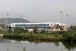 Le Stade Marcel-Picot vu de l'extérieur
