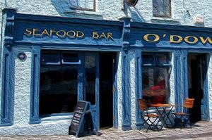 Le restaurant O'Dowd's à Roundstone.