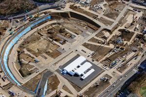 Le site du futur stade olympique de Tokyo 2020