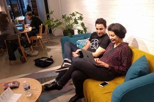 Florian Delifer et Jessica Delpirou font le bilan de cette journée «showroom ouvert».