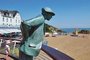 La plage de M. Hulot, à Saint-Marc-sur-Mer.