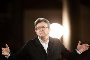 Jean-Luc Mélenchon lors d'un meeting à Lille, jeudi 12 avril.