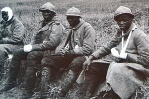 Des tirailleurs sénégalais blessés lors du conflit.