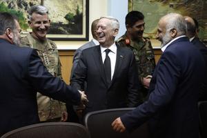 the Chief of the Pentagon Jim Mattis (left), Kabul.