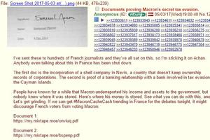 Le message sur le forum 4chan.