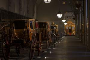 La galerie des carrosses de Versailles.