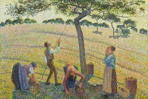 «La Cueillette des pommes, Éragny» (détail), Camille Pissarro.