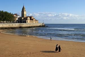 La grande plage de San Lorenzo.