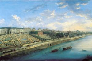 Panorama des quartiers de Passy et Chaillot depuis Grenelle (XVIIe et XVIIIe siècles) par Grevenbroeck, Charles Laurent (fl.c.1670-1730).