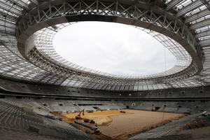 Le stade Loujniki, en rénovation