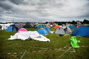 Le camping du festival de rock Bråvalla, à Norrköping, en Suède, le 1er juillet. Crédit photo: TT News Agency/Reuters