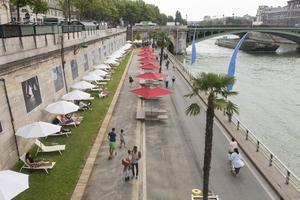 Promenade à Paris Plages.