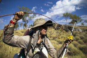 Pendant ses expéditions, Sarah Marquis cherche à être en symbiose avec la nature