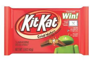 Les emballages de KitKat arboraient le logo Android en 2013. (Google)