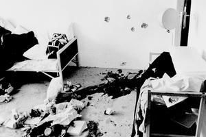 Munich 1972: l'appartement de l'équipe olympique d'Israël dans le village olympique, après la prise d'otages sanglante.