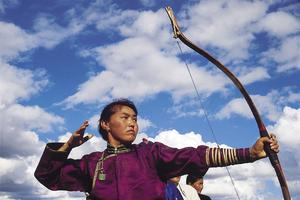 Une archère mongole
