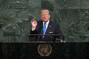 Donald Trump lors de son discours à l'ONU.