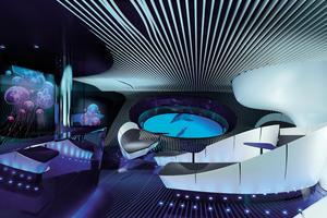 Le futur salon Blue Eye (Ponant-Jacques Rougerie Architecte)