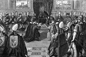 Le concile de Vienne (15e concile œcuménique) est préside par le pape Clement V.