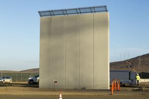 Un des prototypes de mur présenté jeudi.