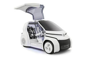 L'i-Ride de Toyota, un véhicule adapté aux personnes handicapées.