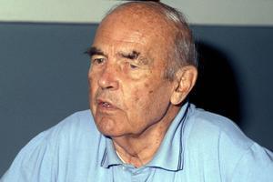 Le criminel nazi Erich Priebke lors de son premier procès en 1996.