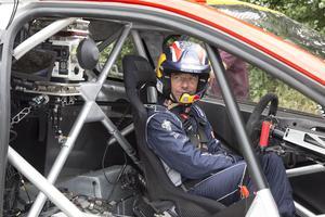 Sébastien Loeb au volant de la Peugot 508 WRX
