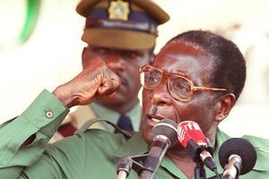 Le président Robert Mugabe en 2000.