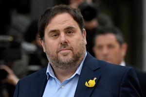 Le vice-président catalan destitué Oriol Junqueras fait partie des indépendantistes incarcérés.