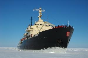 En Laponie, à bord d'un brise-glace