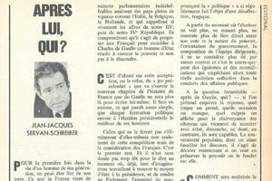 L'éditorial de JJSS paru dans <i>L'Express</i> du 28 avril 1969.