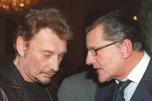 Johnny Hallyday et son ancien producteur, Jean-Claude Camus.