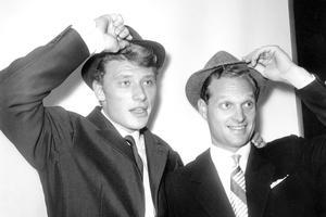 Lee Halliday et Johnny Hallyday en 1961.