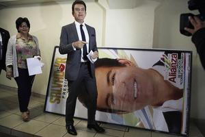 Salvador Nasralla, lors d'une conférence de presse à Tegucigalpa, le 12 décembre.