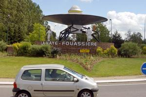 Le rond-point de La Haye-Fouassière.