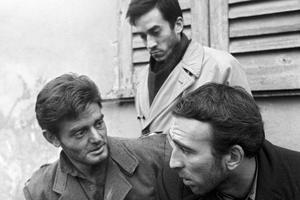 Fernando Birri (en arrière-plan) sur le tournage du film «Les égarés» (1955).