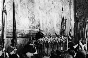 Churchill lors de son discours de Zurich (19 septembre 1945).