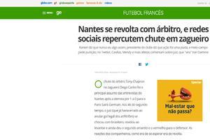 Site Globo esporte
