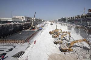 Le chantier de la coupe du monde 2022 au Qatar.