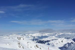 Au sommet du Weissfluhgipfel, 2 844 m.