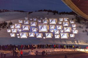 Spectacle monumental des 50 ans des JO à Chamrousse.