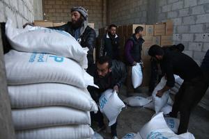 Vivres et médicaments ont été acheminés à la Ghouta.