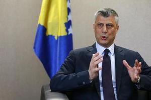 Le président et ancien premier ministre du Kosovo, Hashim Thaçi.