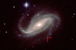 La supernova 2016gkg capturée le 18 février par le télescope Swope d'un mètre situé à l'Observatoire Las Campanas au Chili.