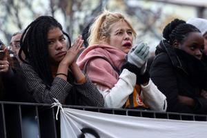 Les manifestants à Madrid, ce vendredi soir.