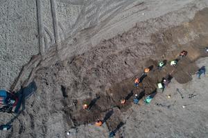 Le lieu des fouilles.