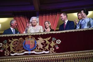 Elizabeth II fête son anniversaire au Royal Albert Hall à Londres.