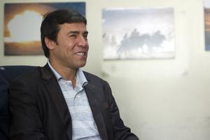 Shah Marai, chef photographe du bureau de l'AFP à Kaboul.