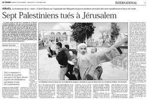 Article paru dans Le Figaro le 30 septembre 2000.