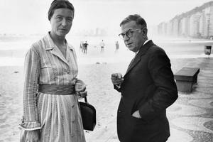 Simone de Beauvoir et Jean-Paul Sartre à Rio de Janeiro en 1960.